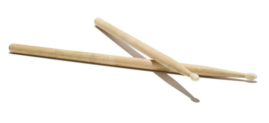 Wood Drumsticks - Isolated White