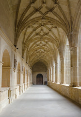 Medieval cloister in Spain