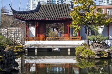 Chinese Garden in Vancouver, British Colombia, Canada.