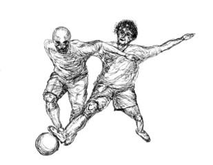 football player sketch