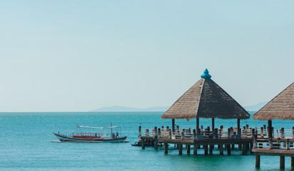 Serene view of port in Sihanoukville