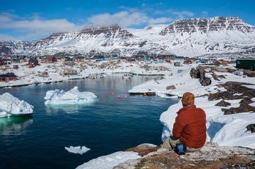 Qeqertarsuaq, Greenland in spring time