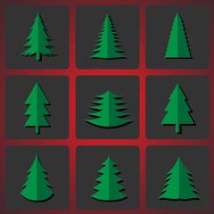 Cutting Christmas trees. Vector illustration EPS-10.
