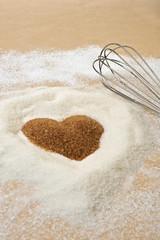 Valentines Day, heart of brawn sugar