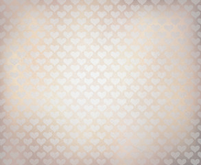 Vector white background with heart pattern.