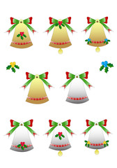 Pack Christmas Bells Isolated