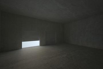 Shutter opening in dark room
