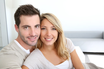 Portrait of smiling thirty-year-old couple