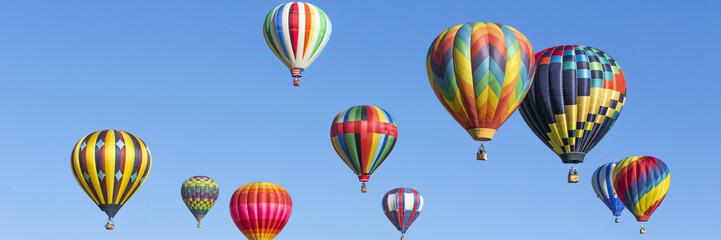 Poster Ballon Hot air balloons panorama