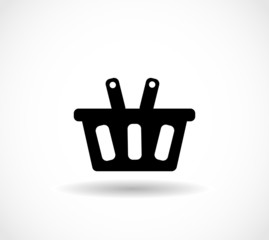 Basket e-commerce icon vector