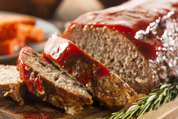 Photo sur Plexiglas Viande Homemade Ground Beef Meatloaf