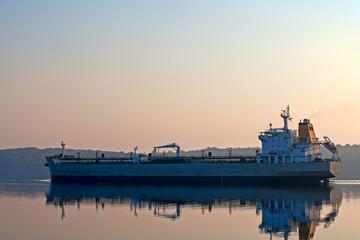 Tanker on Penobscot River in Maine