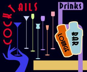 Cocktail menu / advertising design, free copy space