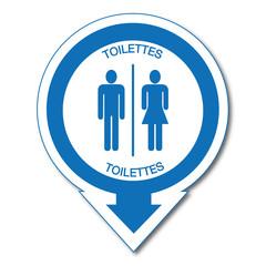 Panneau Toilettes.