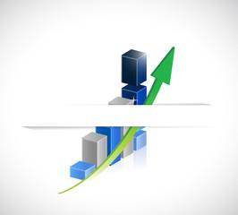 business graph under a pocket. illustration design