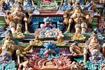 Detail of the Meenakshi Temple, Madurai (India)