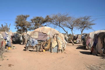 Foto auf Acrylglas Afrika Camp for African refugees of Hargeisa in Somalia