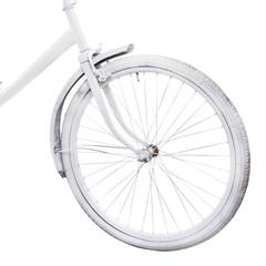 Bicycle wheel isolated on white backgroundю. Bike close-up