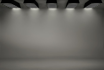Studio background with five softboxes