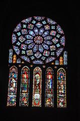 Photo sur Plexiglas Vitrail vitrail de la cathedrale de chartres