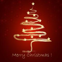 Karta świąteczna czerwona