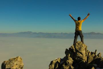 Foto op Aluminium Alpinisme zirvede zafer mutluluğu