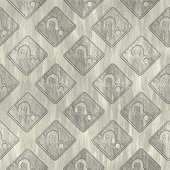 Question sign. Metal pattern. Seamless texture.