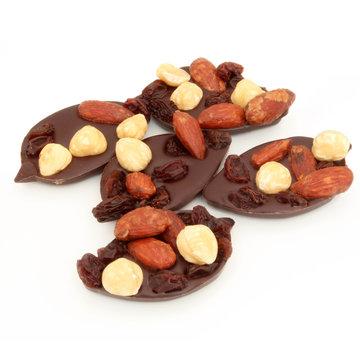 Mendiants au chocolat - Chocolat aux fruits secs