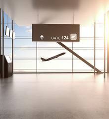Fotobehang - futuristic airport