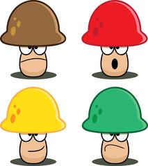 Colorful Cartoon Mushrooms - Assorted