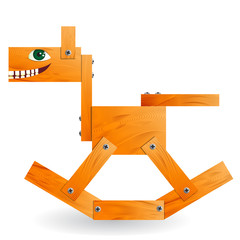 Wooden toy horse.