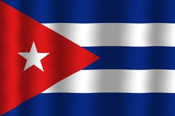 Waving Cuba Flag