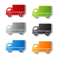 Vector truck symbols - delivery icon, sticker