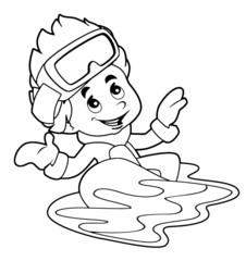 Cartoon child - activity - illustration for the children
