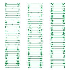Calligraphic Design Elements - Isolated On White Background