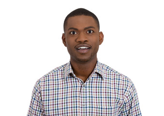 Surprised young man