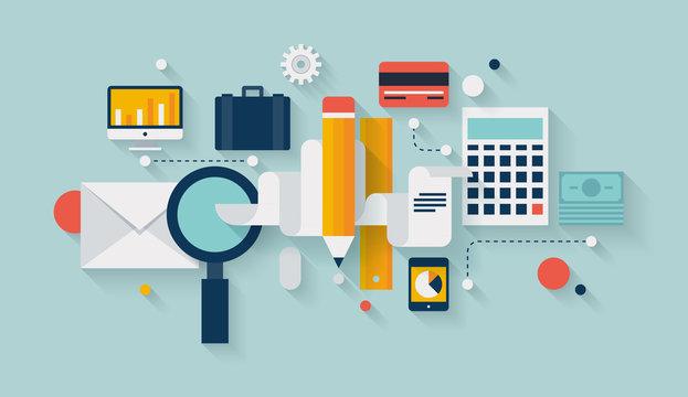 Financial planning and development illustration