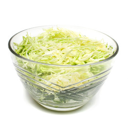 Plate with cabbage salad
