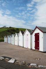 Beach Huts at Broadsands, near Paignton, Devon, UK