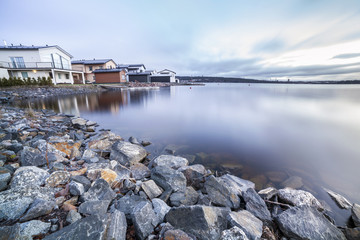 Luxury houses by the lake