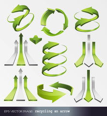 eps Vector image: recycling an arrow 3