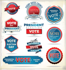 Election badges and labels
