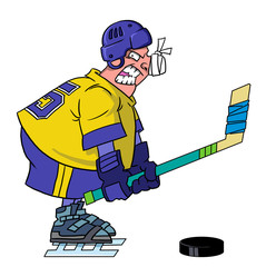 Anger hockey player
