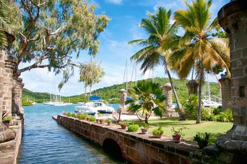 Fototapeten Karibik Nelson's Dockyard near Falmouth, Antigua, Caribbean