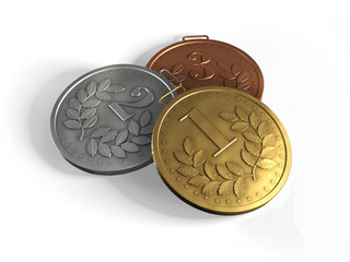 Три медали для награждения
