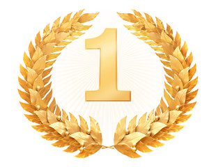 Gold laurel wreath - Award winner