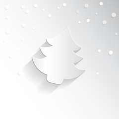 Creative Christmas tree. Vector Illustration