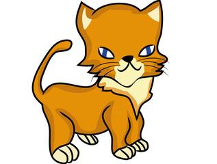 Cartoon kitten