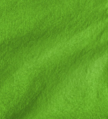 green crumpled fabric texture
