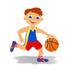 Boy basketballer